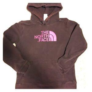Used Maroon North Face Sweatshirt Women's Medium.